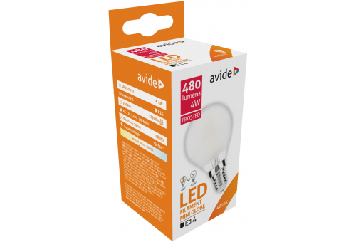 Avide LED Frosted Filament Mini Globe 4W E14 360° NW 4000K