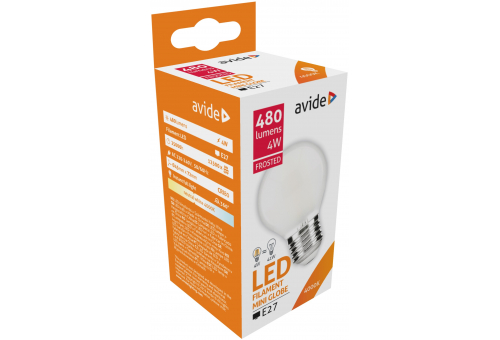 Avide LED Frosted Filament Mini Globe 4W E27 360° NW 4000K