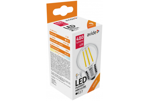 Avide LED Filament Mini Globe 4W E27 360° NW 4000K