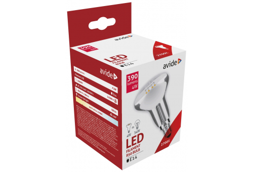 Avide LED Filament R50 4W E14 160° WW 2700K